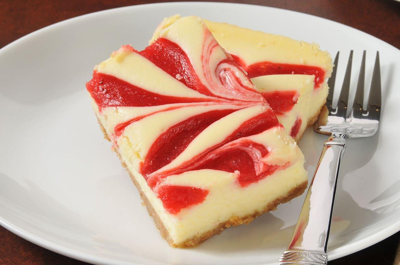 frozen raspberry swirl cheesecake squares